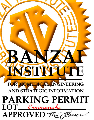 Banzai Institute Parking Permit